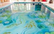 Bể bơi sống động trông hệt như hồ sen tuyệt đẹp