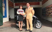 Cô gái trẻ ở Bắc Giang bất ngờ được nhận lại chiếc xe mô tô vừa bị mất trộm 10 ngày