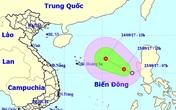 Áp thấp nhiệt đới giật cấp 8 trên Biển Đông đang hướng về Việt Nam