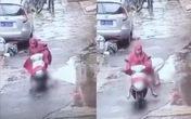 Người phụ nữ lái xe tay ga chèn ngang người bé trai rồi thản nhiên phóng đi gây phẫn nộ