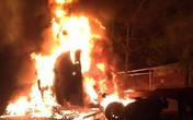 Quảng Ninh: Cháy ca bin xe container, tài xế thoát chết