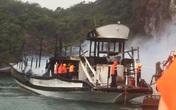 Cháy tàu ở Vịnh Hạ Long: Tạm dừng hoạt động của đội tàu Ánh Dương