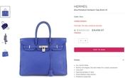 Túi xách đắt đỏ Hermes Birkin và Kelly lần đầu giảm giá