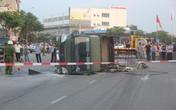 Xe chở lực lượng PCCC bị lật sau va chạm với ô tô, 3 chiến sỹ bị thương