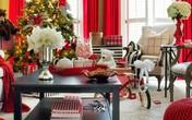 Những phòng khách đậm chất Giáng sinh