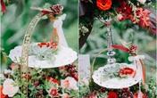 Tiệc cưới sân vườn trang trí đẹp như cổ tích của cặp đôi Hà Thành
