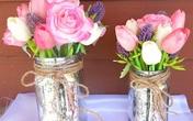 Mẹo cắm hoa đẹp ngất ngây với lọ thủy tinh mộc mạc
