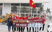 Tinh thần cổ vũ đội tuyển U23 hiện diện khắp nơi trên đường phố Hà Nội