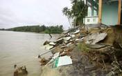 Quảng Ngãi: Người dân bất an vì bờ biển sạt lở mạnh
