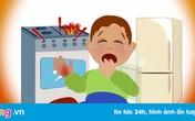 Trẻ bỏng nặng do sự vô ý của cha mẹ