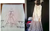 Nhờ bạn thiết kế váy cưới, sản phẩm nhận được khiến cô dâu nghẹn đắng