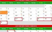 Người lao động sẽ có 5 ngày nghỉ: bốn ngày trong tháng 4 và một ngày trong tháng 5