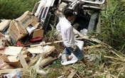 Lai Châu: Xe tải đâm xuống vách núi sâu 70 mét, 1 người phụ nữ tử vong, 2 người khác bị thương