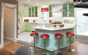 Người đàn ông cải tạo lại nhà bếp với màu xanh theo phong cách retro và cái kết khiến ai cũng bất ngờ