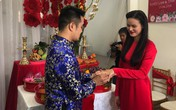 """Vợ chồng Lê Thuý và dàn mẫu """"Next Top"""" xuất hiện trong lễ đám hỏi của Tuyết Lan sáng nay"""