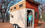 Không muốn đi thuê nhà, chàng sinh viên tự xây nhà di động nhỏ xinh ai cũng muốn ở