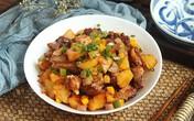 Sườn xào khoai tây - món mặn ngon cơm cho ngày thu mát trời