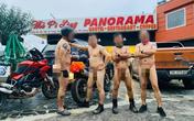 Lộ danh tính nhóm đàn ông khỏa thân, phóng xe máy tới tòa nhà 7 tầng trên Mã Pí Lèng