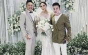 Chồng Bảo Thy đi giày cao hơn 10 cm ở lễ cưới