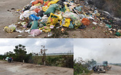 Đê chống lũ ngập rác đã được dọn sạch sau khi Báo GĐ&XH phản ánh