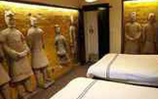 Ngủ như hoàng đế Tần Thủy Hoàng trong khách sạn tượng đất nung