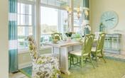 Phòng ăn màu xanh lá cây: Xu hướng thiết kế mới