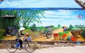 Ngôi làng giữa Hà Nội bỗng đẹp nao lòng bởi những bức tranh tường