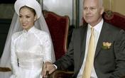 Thu Minh lần đầu khoe ảnh cưới với chồng Tây giàu có