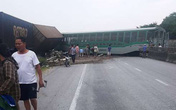 Nghệ An: Tàu hỏa tông xe tải khiến 4 toa trật khỏi đường ray