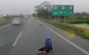 Kinh hoàng cô gái bị giật túi xách ngã văng vào làn đường ô tô ngay trước mũi xe lớn đang di chuyển