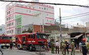 Quán cơm bốc cháy nghi ngút sau tiếng nổ lớn, 2 người bị thương nặng