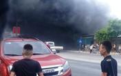 Cháy nhà 2 tầng ở Nghệ An, khói tràn đen kịt trên QL1A