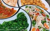 Bữa cơm chiều nhiều rau xanh giải ngán, ăn hết cơm vẫn không chán