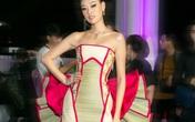 Hoa hậu Khánh Vân gây bất ngờ với trang phục chiếu cói