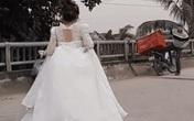 Cô dâu vẫn cố nhận hàng ship khi đang đám cưới