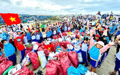 Ninh Thuận: Hơn 8.600 tình nguyện viên đã dọn sạch bờ biển thu gom gần 190 tấn rác