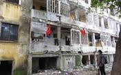 Nghệ An: Một số hộ dân quyết bám trụ trong khu chung cư chờ sập