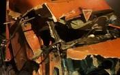 """Kinh hoàng xe container """"càn quét"""" 7 nhà dân bên Quốc lộ 1, nhiều người thoát chết"""