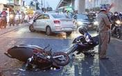 Ôtô tông nhiều xe máy ở TP.HCM
