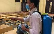 Nhiều trường ở Hà Nội đang chủ động phun khử khuẩn đảm bảo an toàn cho học sinh