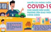 Bộ Y tế ra khuyến cáo phòng chống COVID-19 cho người điều khiển giao thông công cộng