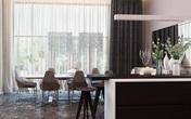 Ngôi nhà hiện đại sử dụng nội thất dạng hình học độc đáo