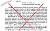 Làm giả công văn của tỉnh Hải Dương cho học sinh nghỉ học