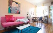 Căn hộ 37m² sử dụng những màu sắc đáng kinh ngạc trong trang trí nội thất