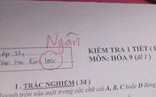 Kiểm tra một tiết môn Hóa nhưng lại quá căng thẳng, nữ sinh viết tên mình còn sai nhưng ý nghĩa mới đầy hài hước
