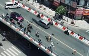 Va chạm liên hoàn với 2 ô tô trên cầu vượt, 2 người bị thương