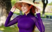 """Hoa hậu Khánh Vân hoá """"nàng thơ"""" xứ Huế trong tà áo dài tím"""