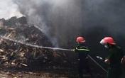 Nghệ An: Cháy xưởng sản xuất viên nén gỗ