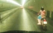 Xác minh danh tính nữ tài xế xe máy vượt biển cấm xuyên hầm Hải Vân