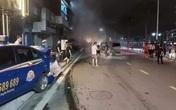 Hải Phòng: Xe Lexus húc văng 3 xe ô tô làm 2 người thương vong